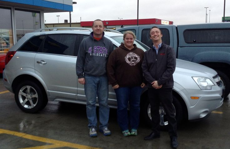 Who just purchased that 2013 Chevy Captiva you ask? That's Rob & Darla of Arlington! Congrats on your new ride. w/ Consultant Charlie Jensen #StopDreamingStartDriving