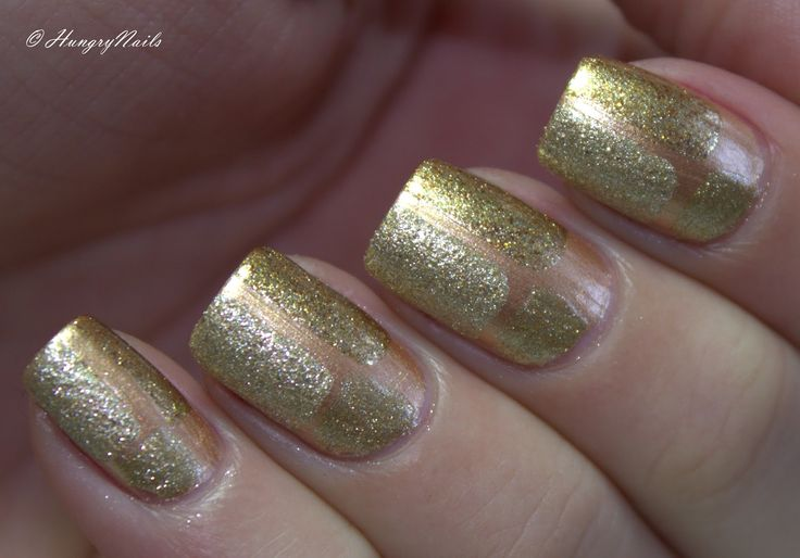 Combination of 4 golden nail polishes by Anny, Butter London, OPI & China Glaze