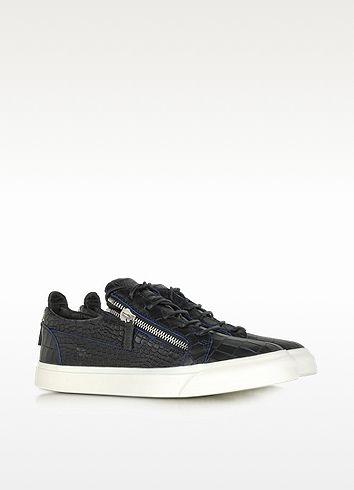 Wild Black Croco Embossed Patent Leather Sneaker - Giuseppe Zanotti / ジュゼッペ ザノッティ