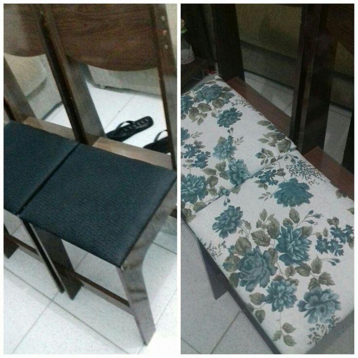 Minhas cadeiras renovadas 😍