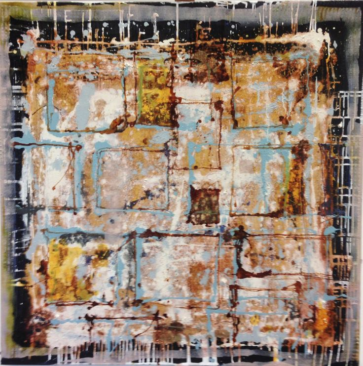 mixed media on canvas  100x100 cm