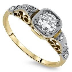 18ct Gold Diamond Antique Ring
