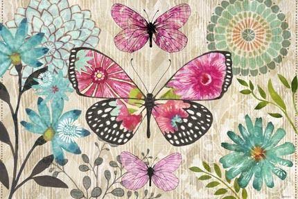 Flower Spotted Butterfly Dream Hz by Jennifer Brinley   Ruth Levison Design