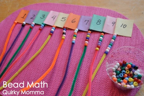 Great counting activity! Also encourages fine motor skills!
