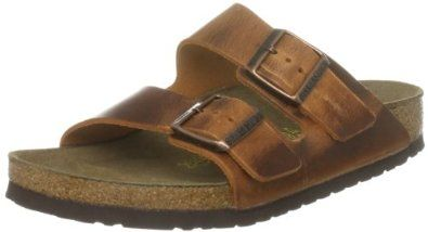 Birkenstock slippers Arizona from Leather in antique brown with a regular insole size 41.0 M EU Birkenstock. $37.47