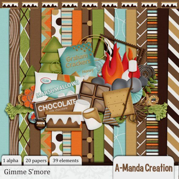Gimme S'more | paper cards scrapping | Pinterest