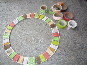 Brennender Schuh - Herbstdeko Washi-Masking-Tape Türkranz, Herbstfarben