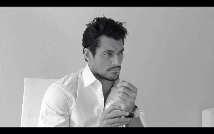 "David Gandy for Alistair Guy's exhibition ""White Shirt"" at Century Club January 2014"