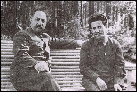 Sergo Ordzhonikidze and Nikolai Yezhov.