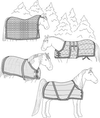 Patterns for all things equestrian - Horse blankets, fly masks, coolers, chaps etc.