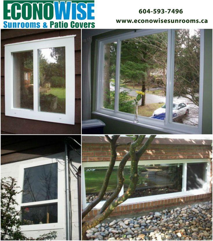 Vinyl Replacement Window  #econowisesunrooms #patiocover #sunroom #pergola #deckmakeover #aluminumrailing #glassrailing #windwall #replacementwindow #vinyl #waterproofing