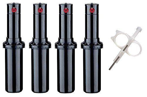 Hunter PGP-adj Rotor Sprinkler Heads - 4 Pack - Includes Adjustment tool Hunter