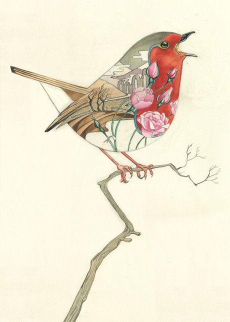 Floral-inspired animal prints from watercolour artist Daniel Mackie.  Love this.