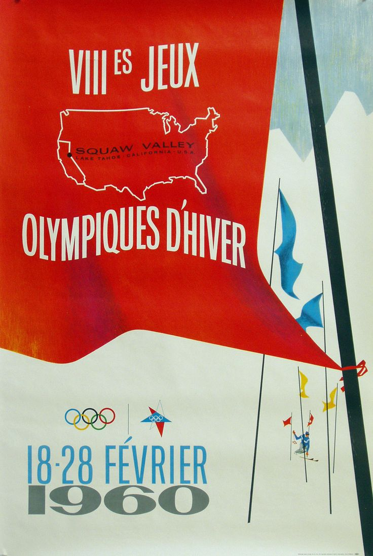 Poster for 1960 Winter Olympics in Squaw Valley, California.
