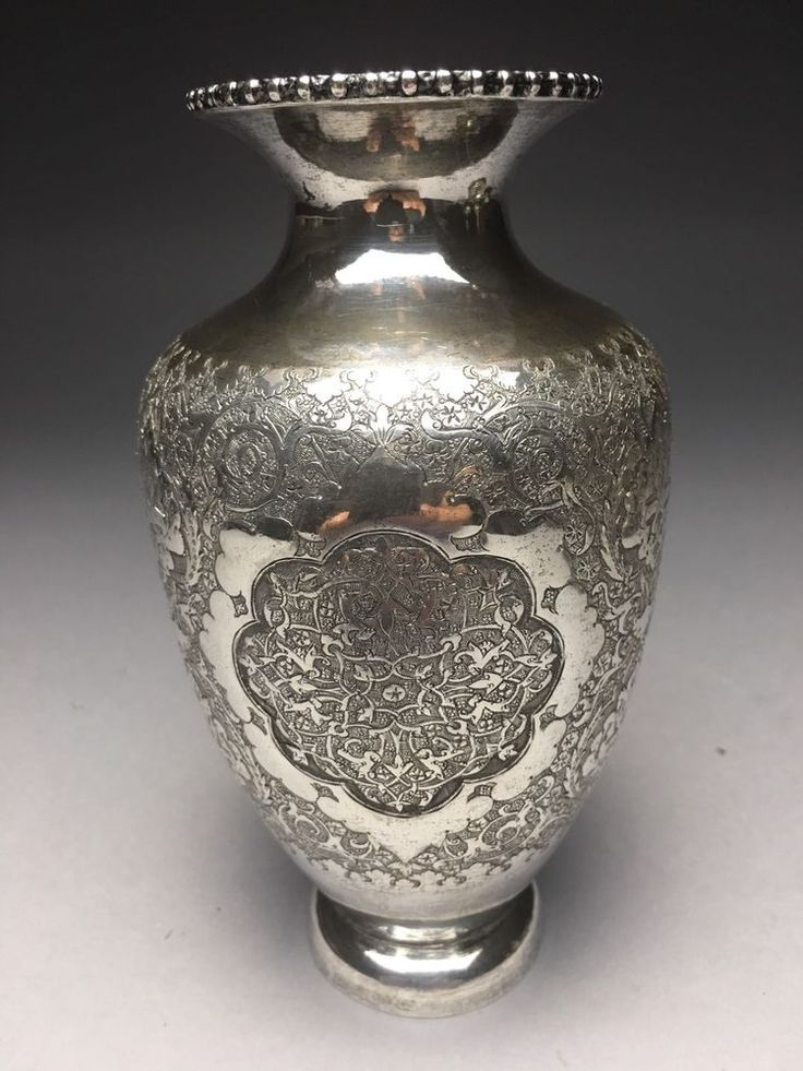 Excellent 84 Silver Persian 8 Ozt Antique Estate Find Vase  | eBay