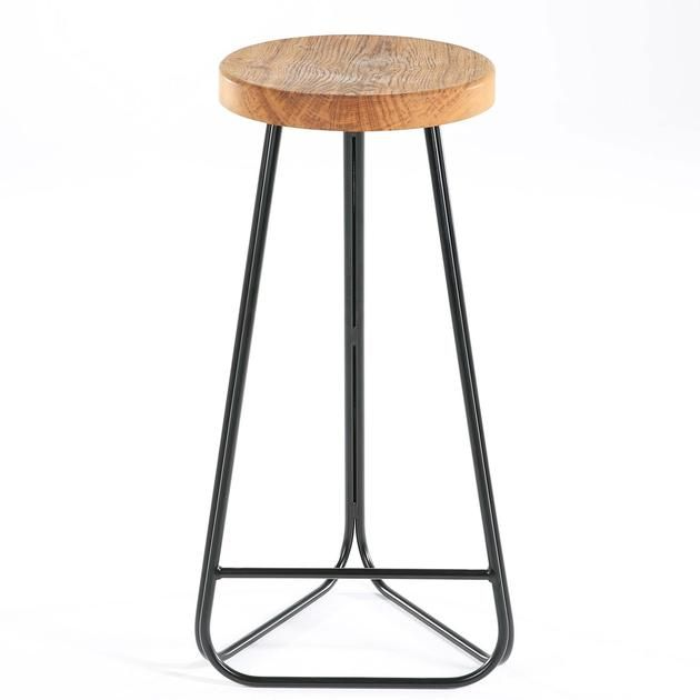 Morton Handmade Steel And Wood Breakfast Bar Stool Breakfast Bar Stools Bar Stools Designer Bar Stools