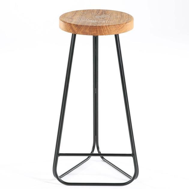 Morton Handmade Steel And Wood Breakfast Bar Stool Breakfast Bar