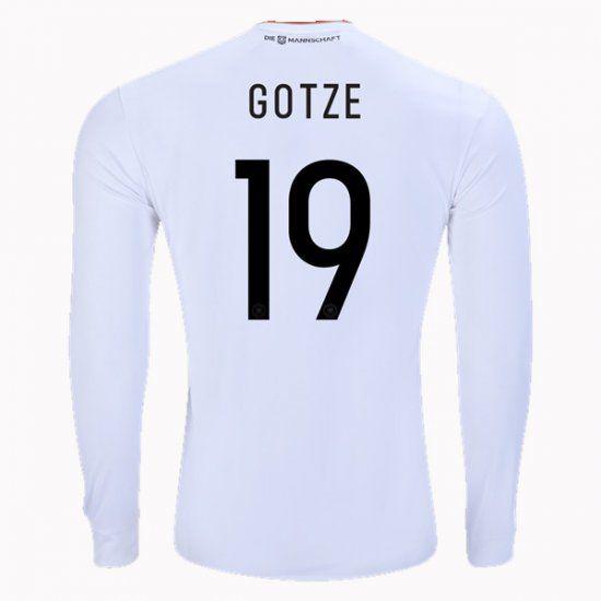 2017 Germany Soccer Team LS Home #19 Gotze Replica Football Shirt 2017 Germany Soccer Team LS Home #19 Gotze Replica Football Shirt