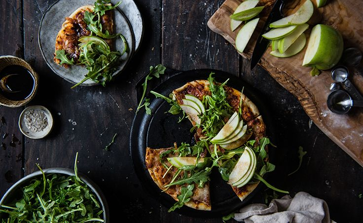 Two Red Bowls Arugula, Apple & Bacon Pizza | west elm