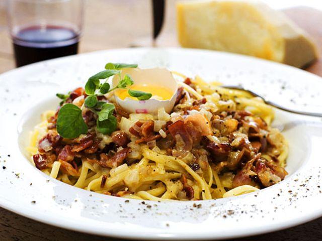 Spaghetti á la carbonara (kock Alexandra Zazzi)