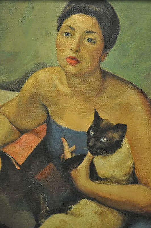 """Portrait of Berta Mendes"" - oil on canvas 1934 by Abel Manta (Portuguese 1888-1982)"