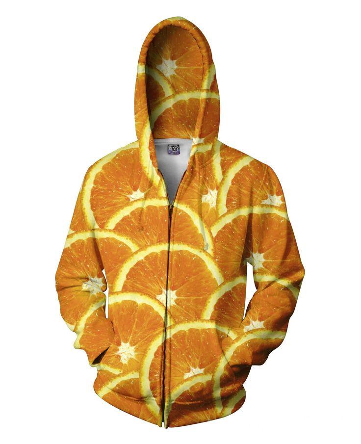 Oranges Zip-Up Hoodie