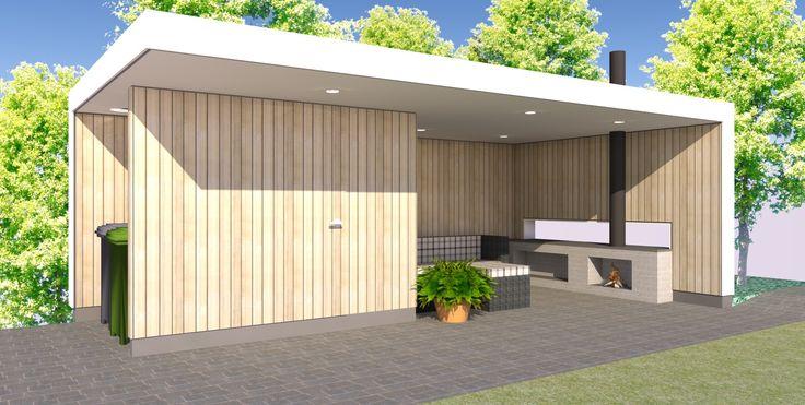 lounge tuinhuis met berging   Boekema Advies