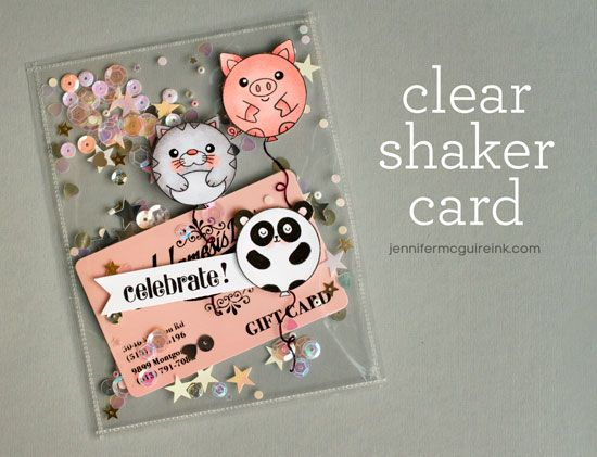 Video: Clear Shaker Card + Discount Code + GIVEAWAY | Jennifer McGuire Ink