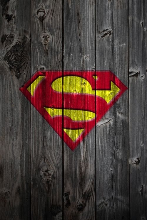 Wooden Superman Logo