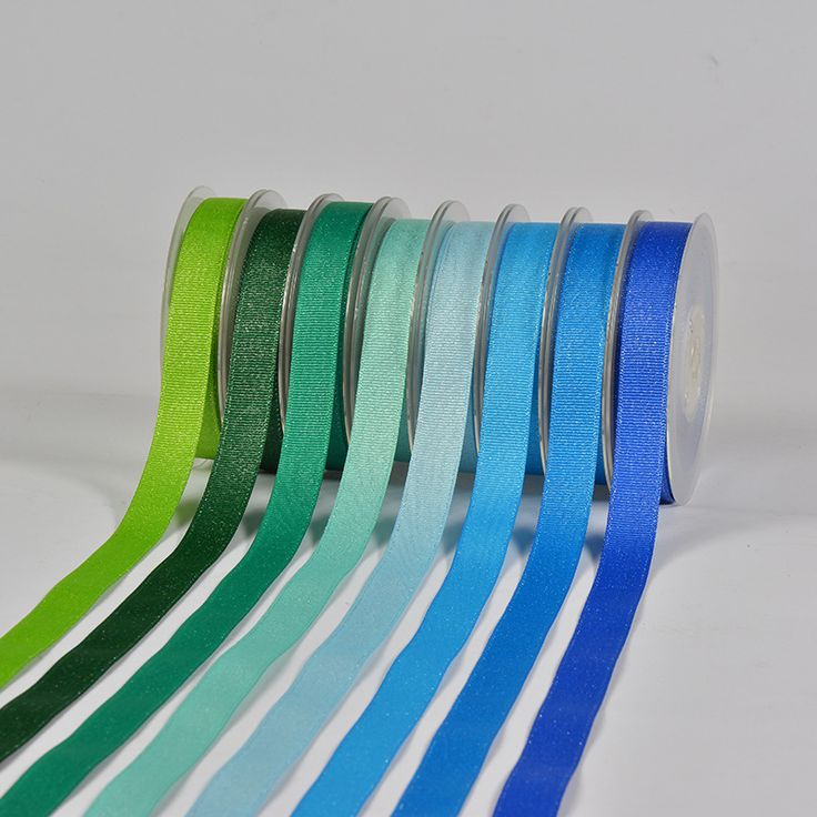 Ribbon Silver Weft Ribbon Garment Accessories Diy Accessories Blue Packaging Wholesale