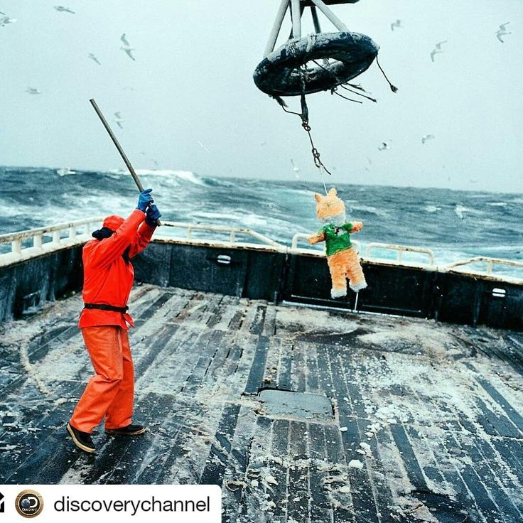 #Repost @discoverychannel    Photo and text by Corey Arnold @arni_coraldo | Matthews birthday landed on the fourth day of the Opilio crab season every year. I was a fellow deckhand aboard the f/v Rollo which was usually smack in the middle of a hellish bender of long work days in sloppy seas on January 19th. This year in 2005 I decided to surprise him with a piñata stuffed with candy and plastic toy horses. It was 18F degrees outside with 25 foot seas and the deck was glazed like an ice…