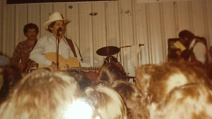 George performing at Washington County Fair in Brenham, Texas in 1983.