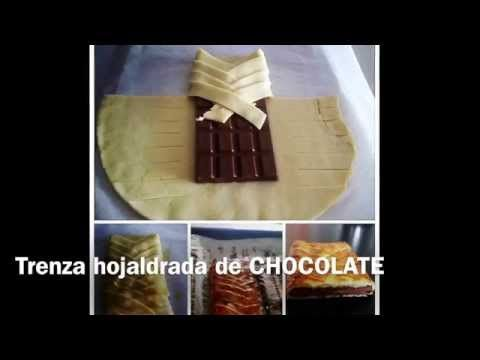 POSTRE: Pastel de chocolate con hojaldre - YouTube