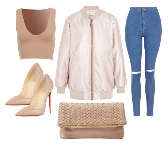 """""""Untitled #334"""" by eaubleue ❤ liked on Polyvore featuring Topshop, Christian Louboutin, Acne Studios, Deux Lux, women's clothing, women's fashion, women, female, woman and misses"""