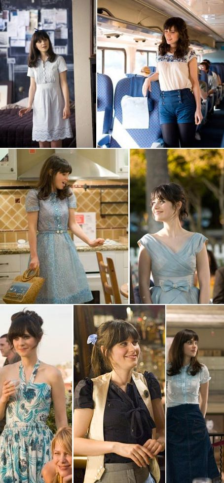 did you know zooey deschanel only wears the color blue in 500 days of summer?  i think it would be fun to only wear one color for a while.