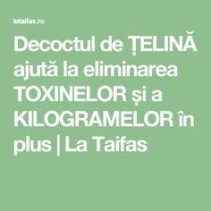Decoctul de ȚELINĂ ajută la eliminarea TOXINELOR și a KILOGRAMELOR în plus | La Taifas