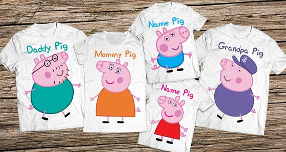 Peppa pig family shirts Daddy pig shirt Peppa pig birthday