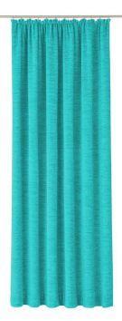 Wirth Vorhang, »Trondheim 234 g/m²«, mit Kräuselband (1 Stück), grün, Kräuselband, Blickdicht, türkis