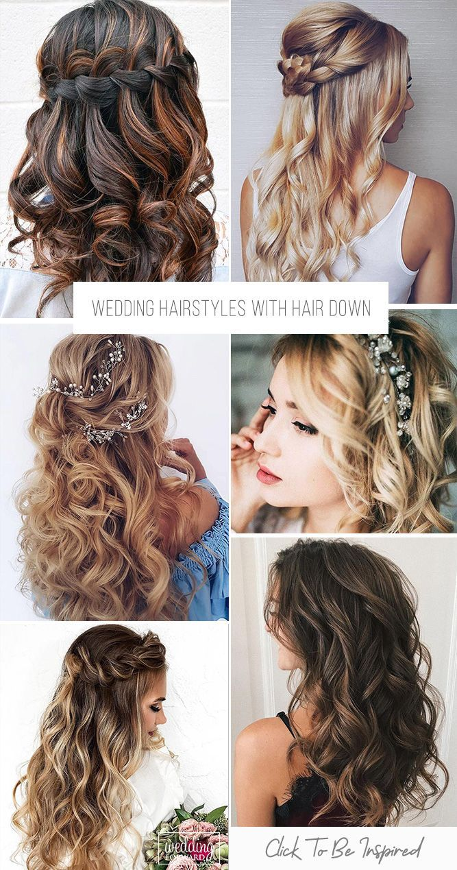 33 wedding hairstyles with hair down | hair today | wedding
