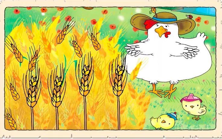 El cuento de la gallinita Roja. Trabajamos el valor del esfuerzo, la colaboración y la constancia.