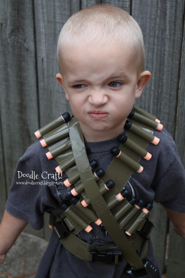 Doodle Craft...: Duct Tape Bullet Bandolier Belt and Utility Vest!