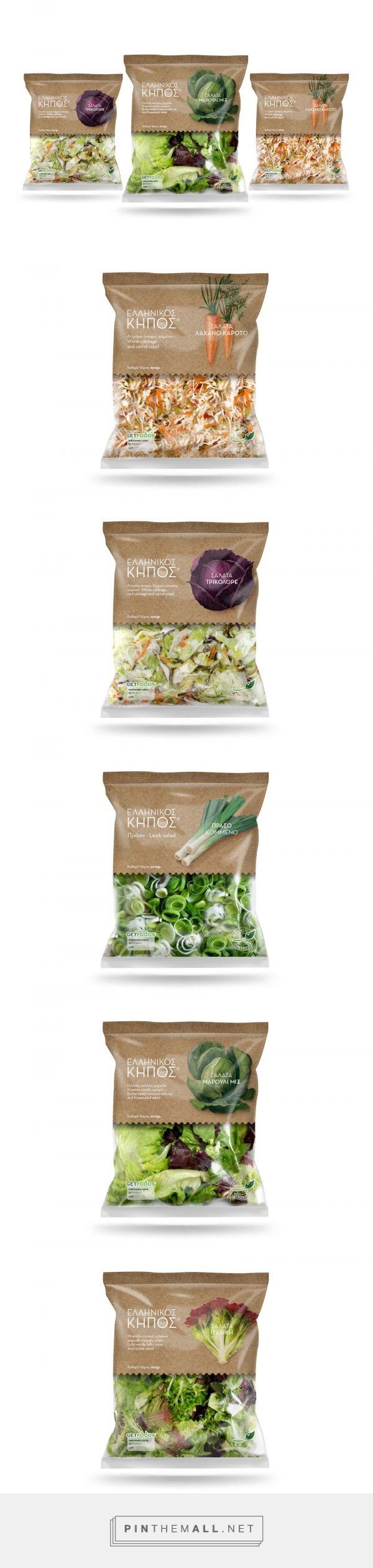 ELLINIKOS KIPOS Salad packaging design by Superfy - http://www.packagingoftheworld.com/2017/10/ellinikos-kipos-salads.html