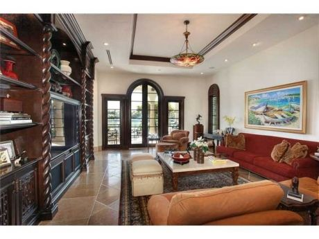 Mediterranean style waterfront estate in key biscayne florida usa luxury homes for sale Mediterranean home decor for sale