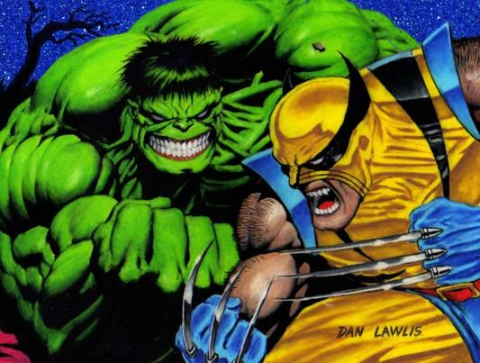 Hulk vs Wolverine by Dan Lawlis