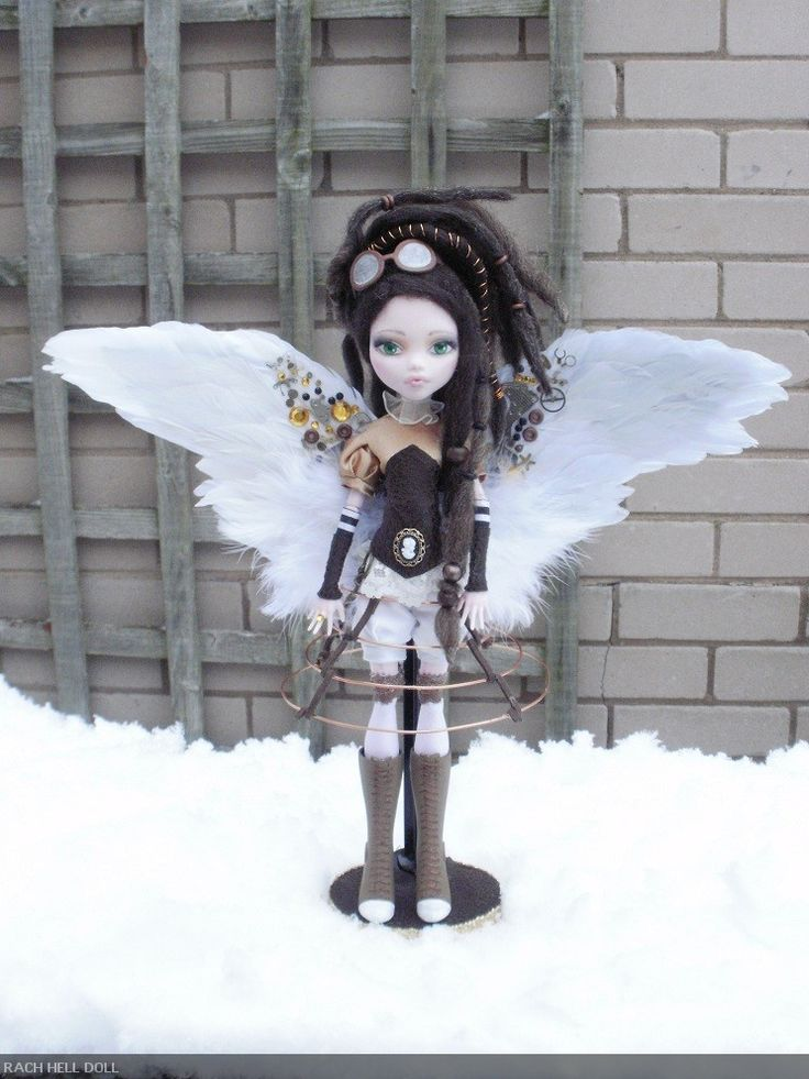 monster high custom doll steampunk aviator by Rach-Hells-Dollhaus.deviantart.com on @deviantART