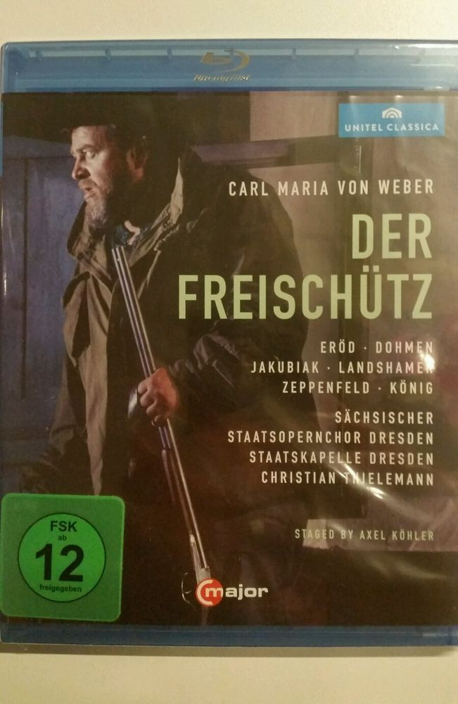 BLURAY I Der Freischütz von Dohmen,Jakubiak,ERÖD,Thielemann,Landshammer (2015)