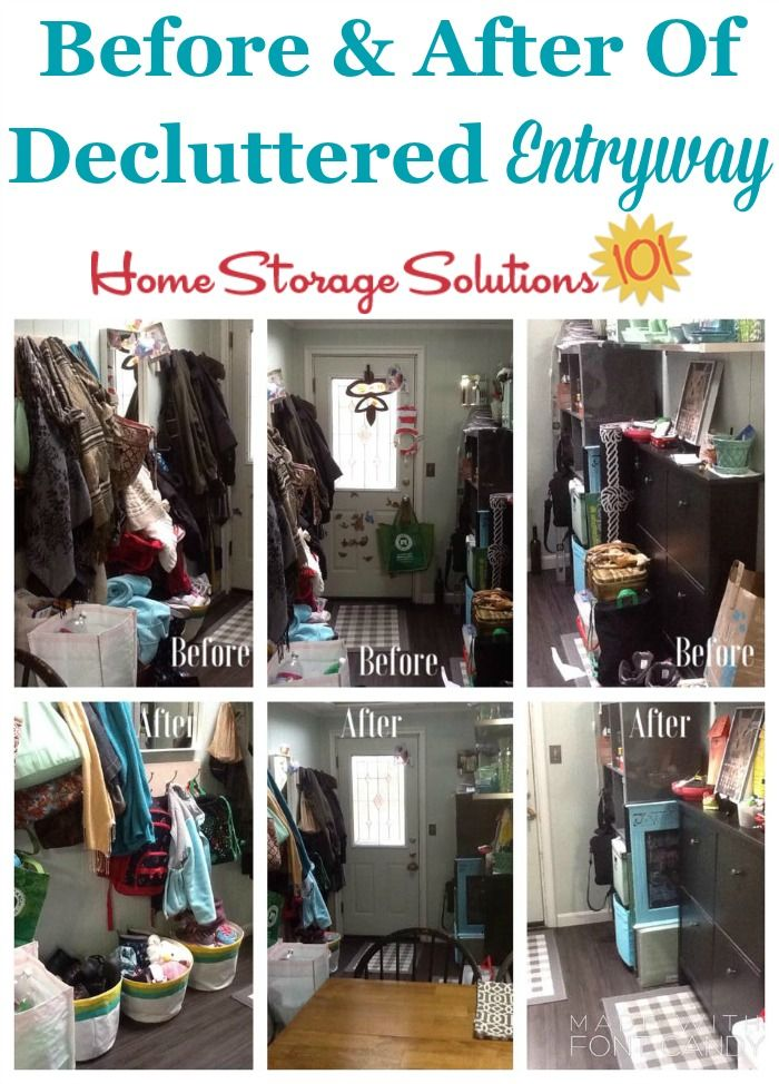 How To Declutter Your Entryway Or Foyer Declutter Home Storage