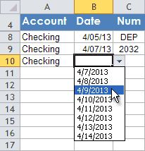 So THAT's how you can get a dropdown list of options to choose from. Thanks, Excel.