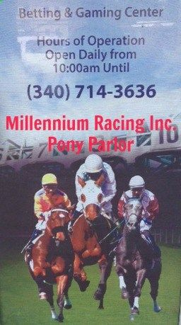 MRI is a simulcasting & pari-mutuel betting center, where horse racing enthusiasts has the opportunity to bet on horse races in the U. S., Europe and throughout the world right here in St. Thomas, Virgin Islands #Horses #Betting #Gambling #VI #SmallBiz #SmallBizDepotVI www.SmallBizDepot...