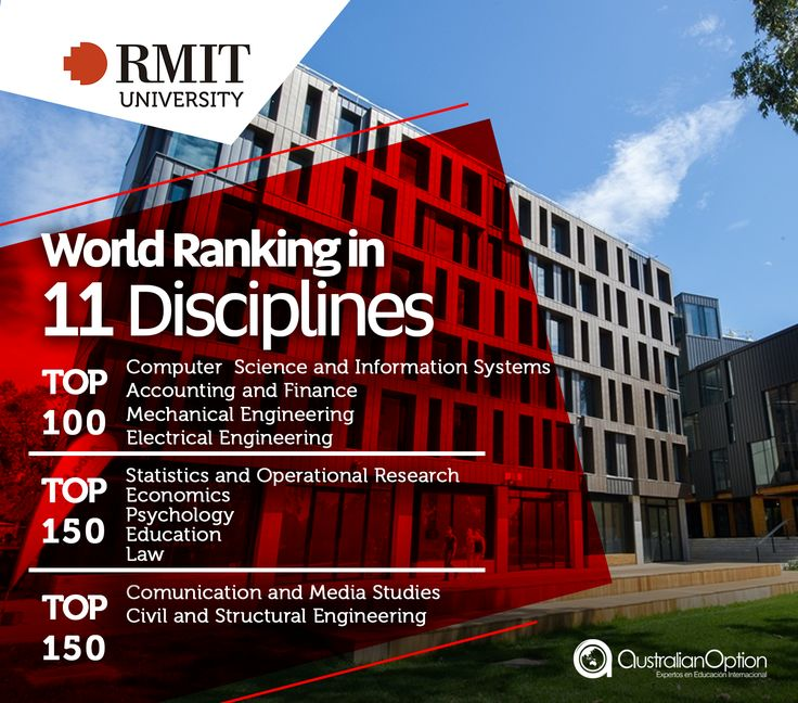Miembro de la Australian Technology Network of Universities, la Universidad de #RMIT te ofrece múltiples programas de educación. En Australian Option Education - Estudia en Australia te asesoramos para que estudies en las mejores universidades de Australia. Para mas información escríbenos en info@australianoption.com #Australia #latinoamericanos #estudiantes #becas #posgrados #pregrado #intercambio #students #ingles #internationalstudents #Melbourne #studentlife #overseas #México #Colombia…